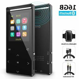 MP3 Player Bluetooth16GB Music Player FM Radio/Voice Recorde