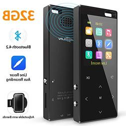 MusRun MP3 Player, 32GB MP3 Player with Bluetooth 4.2  and I