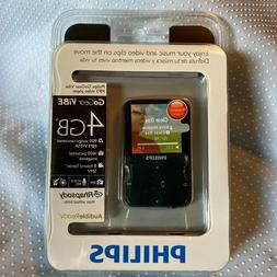 Philips GoGear ViBE 4gb Portable MP3 Video Player w/1.5-Inch
