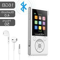 MP3 Player with Bluetooth and FM Radio,16GB Portable HIFI Lo