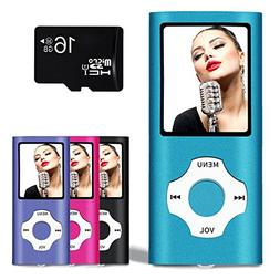 Lonve MP3 Player MP4 Player 16GB Portable Media Music Player