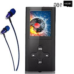 Mp3 Player/Music Player,EVASA with a 16 GB TF Card, Maximum