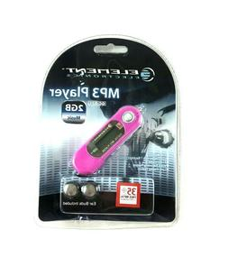 Element Electronics MP3 Player New Sealed 2GB Memory GC-821