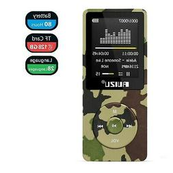 Mp3 Player, RUIZU X02 Ultra Slim Music Player with FM Radio,