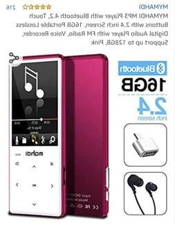 MYMAHDI MP3 Player W/ Bluetooth 4.2 16GB 2.4 Inch Screen Pin
