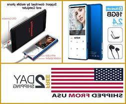 MYMAHDI MP3 Player W/ BLUETOOTH 4.2 Touch Buttons 2.4 Inch S