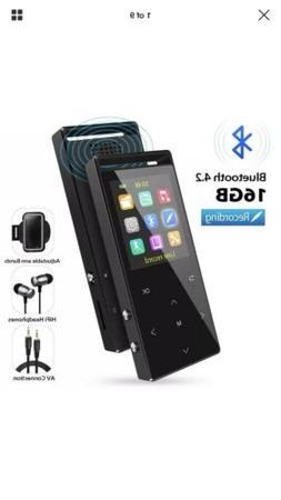 MP3 Player with Bluetooth, 16GB Portable Digital Music Playe