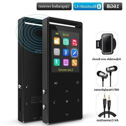Grtdhx MP3 Player with Bluetooth, 16GB Portable Digital Musi