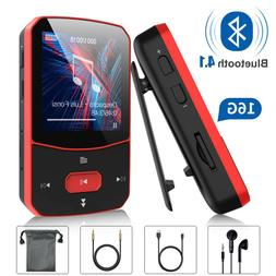 Mp3 Player with Bluetooth 4.1, 16GB Lossless Sound Player, S