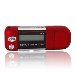 4GB MP3 USB Music Player Voice Recorder FM Radio Red