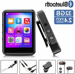 MP3Player, MP3 Player with Bluetooth, 32GB Portable Music Pl