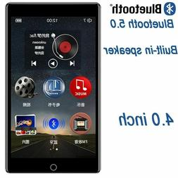 MP4 Player Touch Screen Bluetooth 5.0 Speaker Support FM Rad