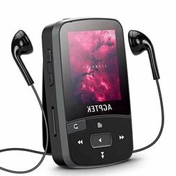 Music Player 16GB Clip MP3 Player with Bluetooth 4.0, AGPTEK