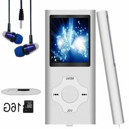 """NEW Hotechs 16GB MP3 Player ~ Digital LCD 1.82"""" ~ Silver"""