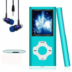 """NEW Hotechs 16GB MP3 Player ~ Digital LCD 1.82"""" ~ Teal Blue"""