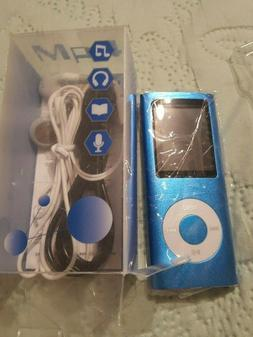 NEW G.G.Martinsen MP3/MP4 Player with a 16G Blue