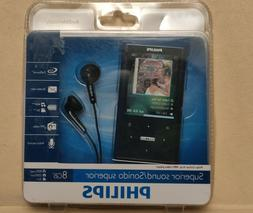 New Sealed Philips Ariaz Vibe Black MP3 Video Player 8GB 180