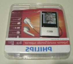 New Sealed Philips GOGEAR VIBE MP3 Player 8 GB - Silver