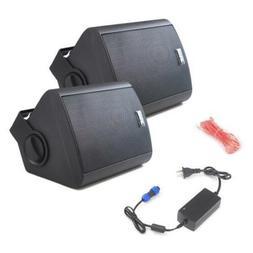 Pair of Pyle PDWR62BTBK Wall Mount Waterproof/Bluetooth 6.5