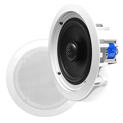 """6.5"""" Ceiling Wall Mount Speakers - Pair of 2-Way Midbass W"""