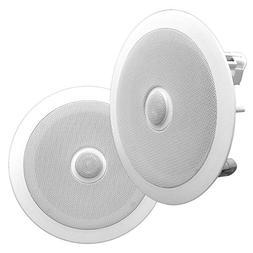 """Pyle 6.5"""" Pair of Built-In Ceiling or Wall Mount Speakers,"""