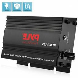 Pyle PLMPA35 2 Channel Car Amplifier 300 Watt Mini Amp w/3.5