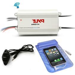 Pyle PLMRMB4CW Bluetooth Marine Amplifier Kit, 4-Ch. Waterpr