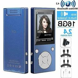 HONGYU Portable 16GB MP3 Player with Bluetooth 2.4 Inch