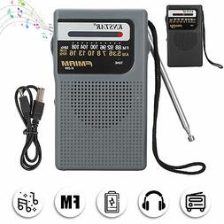 Portable AM FM Radio w/Pointer Sound MP3 Player Rechargeable