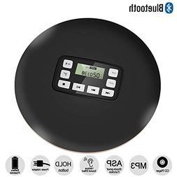 HONGYU Portable Bluetooth CD Player with LED Display/Headpho