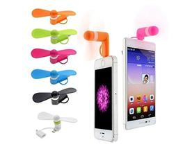 Portable Mini iPhone Fan - Colorful and Powerful 2-in-1 Fans