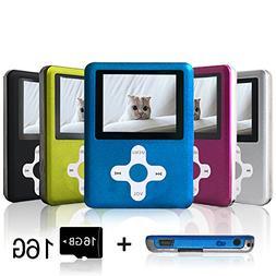 Lecmal Portable MP3/MP4 Player with 16GB Micro SD Card, Econ