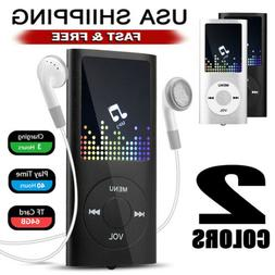 Portable MP3 Music Player 40 Hours FM Hi-Fi Lossless Support