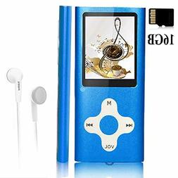 Portable Mp3 Player w/ 16 GB Memory Card Digital Music Playe