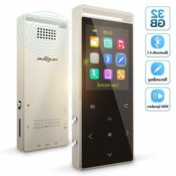 Portable Music MP3 Player Bluetooth 4.2 16GB 2.4-Inch Screen