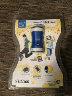 Sansa SanDisk Blue Shaker MP3 Player 125 Songs SDMX9N-512MB