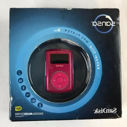 SanDisk Sansa Clip Pink 2 GB FM Digital Media MP3 Player SDM