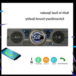 SD Car Radio Stereo MP3 Player Speaker In-Dash 12V 1 Din Blu