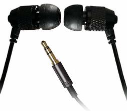 """Short Buds - 15""""  Cord Stereo Earbuds  for Clip-on Mp3 Playe"""