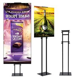 HUAZI Sign Holder- Heavy Duty Pedestal Poster Stand- Sign St