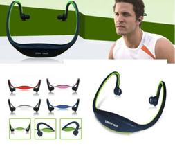 Sport Headphone Headset Earphone Loop TF Card MP3 Player Mic