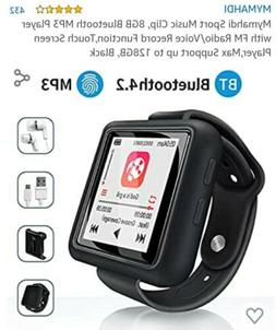Mymahdi Sport Music Clip, 8GB Bluetooth MP3 Player with FM R