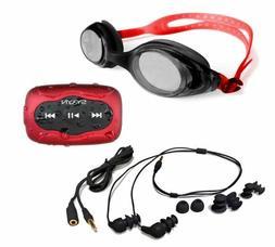 swimbuds headphones and 8 gb waterproof mp3