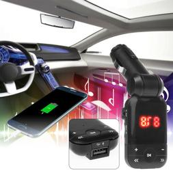 T26 Car Bluetooth Wireless FM Transmitter LCD MP3 Player for