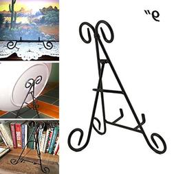 Adorox 9'' Tall Black Iron Display Stand Holds Cook Books, P