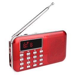 TIVDIO L-218 Portable AM FM Transistor Radio with Mp3 Music