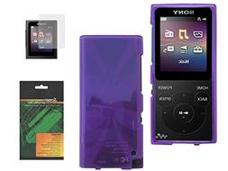 TPU Skin Case Cover with Screen Protector for Sony Walkman D