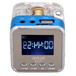 NIZHI TT-028 Portable Music Box USB TF Micro SD Card MP3 Pla