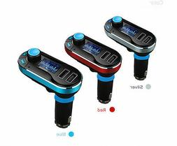 Universal 12V Dual USB Car Cigarette Lighter Charger FM AUX