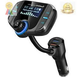 bluetooth fm transmitter,  wireless radio adapter hands-fre